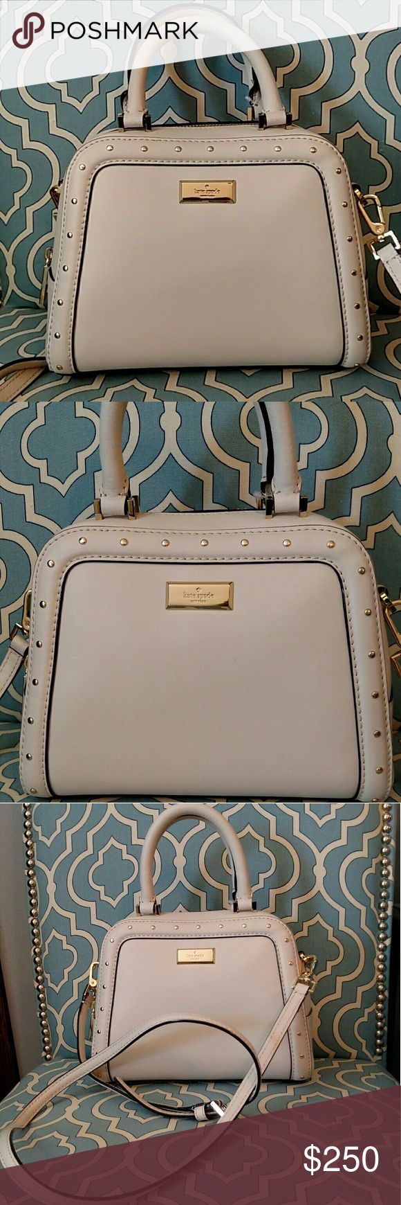 Kate Spade helena street small rocki pebble color Brand New Kate Spade helena street small rocki purse. Never used. Pebble color. Comes with shoulder strap but no dust bag. Make me an offer! kate spade Bags