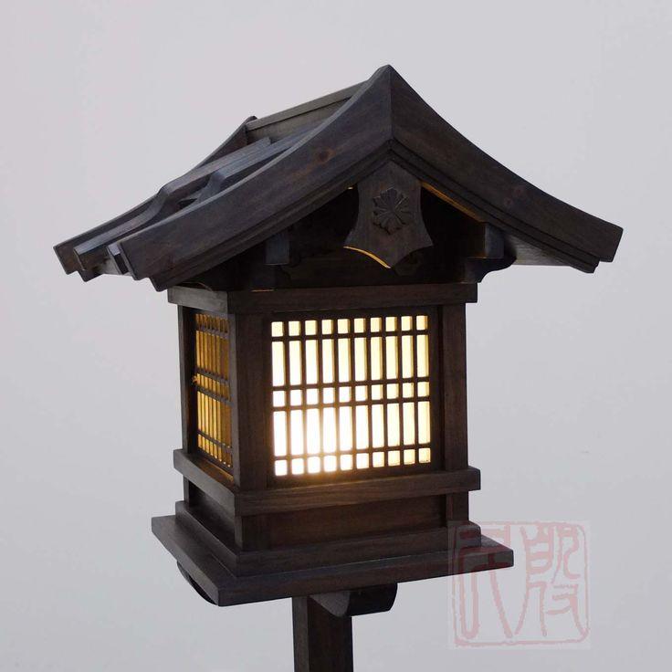Japanese wooden lantern outdoor wl2 bonsai for Wooden garden lanterns