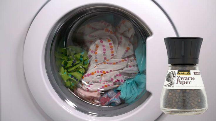 Zwarte peper in de wasmachine?Ja echt, en als je dit leest ga je het sowieso proberen!