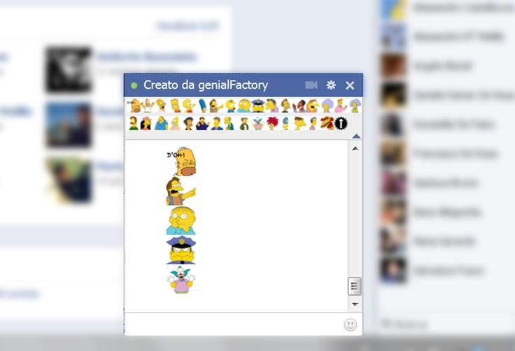 Elenco completo Emoticons Simpson XL sempre presente nella chat di Facebook