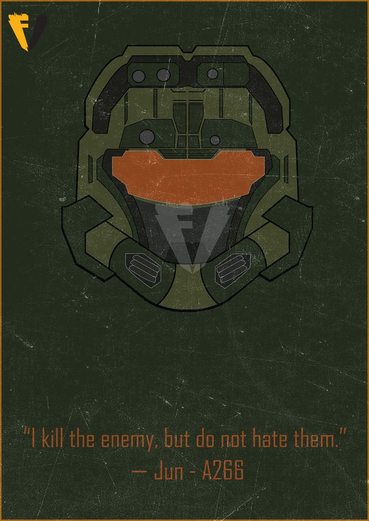 Halo Reach Jun Helmet Poster by FALLENV3GAS on DeviantArt
