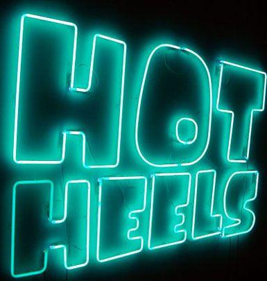 'Hot Heels' Neon, 1999 by artist Sylvie Fleury