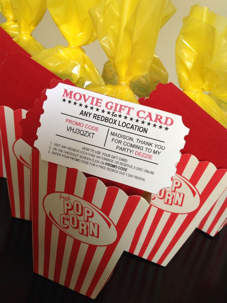 Movie Party Favor....with Redbox promo code
