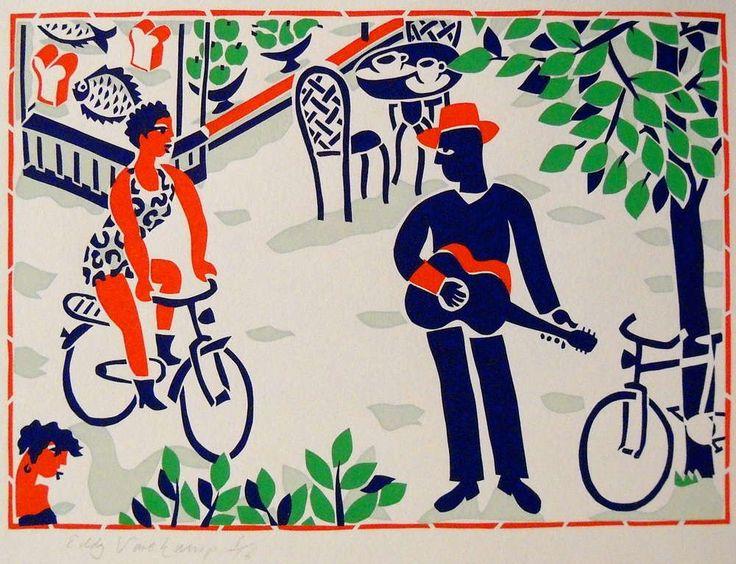 Street musician - Stencilprint