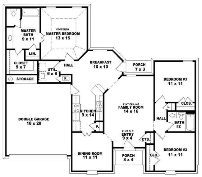 2 Bedroom 2 Bathroom House Plans Floor Plan 4 Bedroom House Plans With Photos House Plans