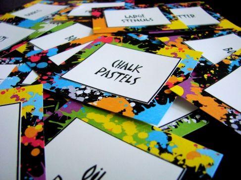 Art Room Organization (Art Bulletin Boards) - Printable Labels!