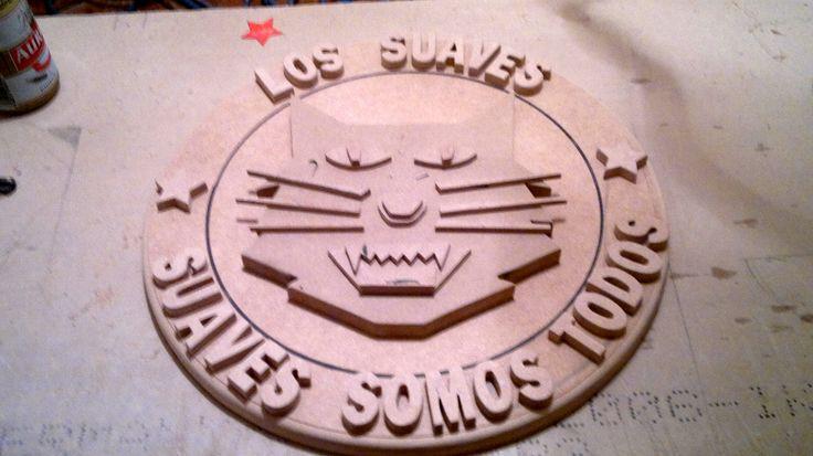 Escudo completo de los Suaves, aun sin pintar.