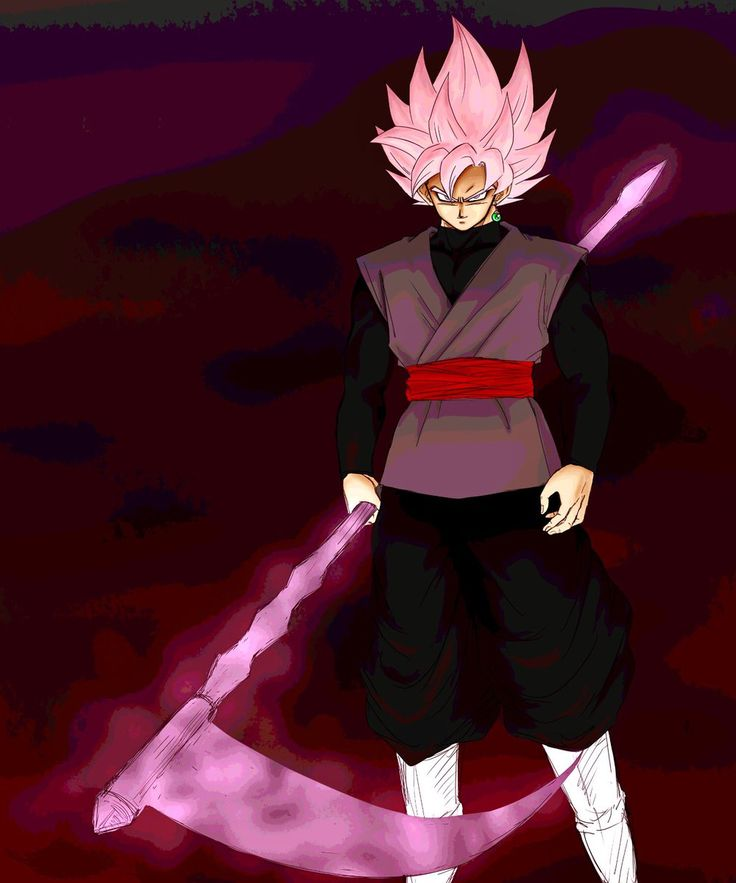Super Saiyan God!Rose Goku Black with a Ki Scythe