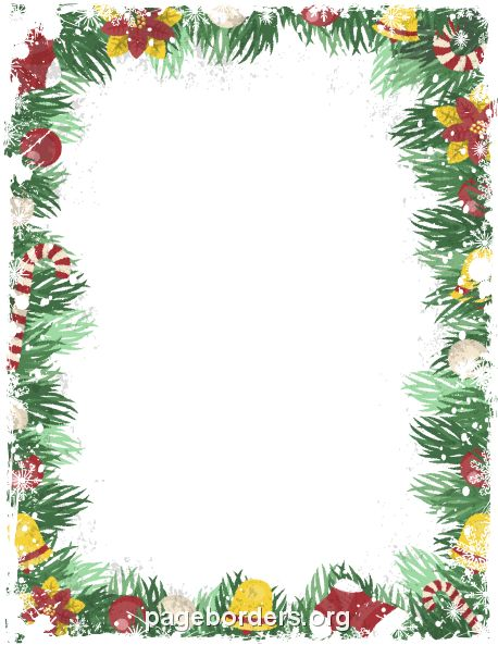 Printable Vintage Christmas Border. Use The Border In Microsoft Word Or  Other Programs For Creating
