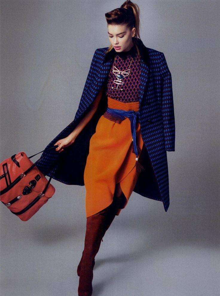 #Fornarina #geometric printed dress #FashionEditorial