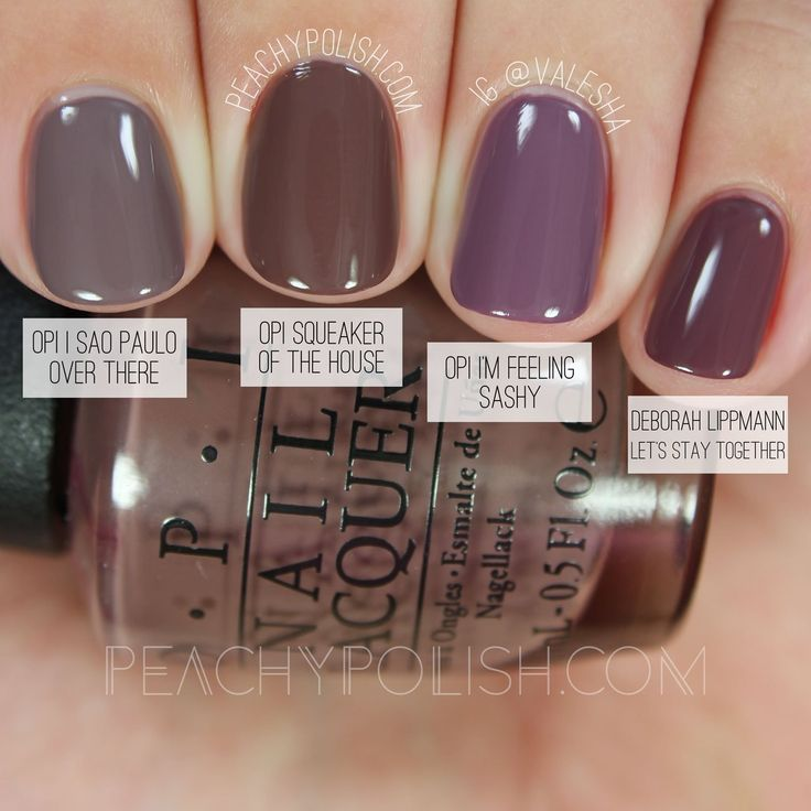 Opi Squeaker Of The House Washington D C Collection Comparisons Peachy Fall Color Nail