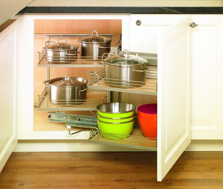 Making Full Storage Use Of A Dead Corner In A Kitchen Cabinet Magic Corner I