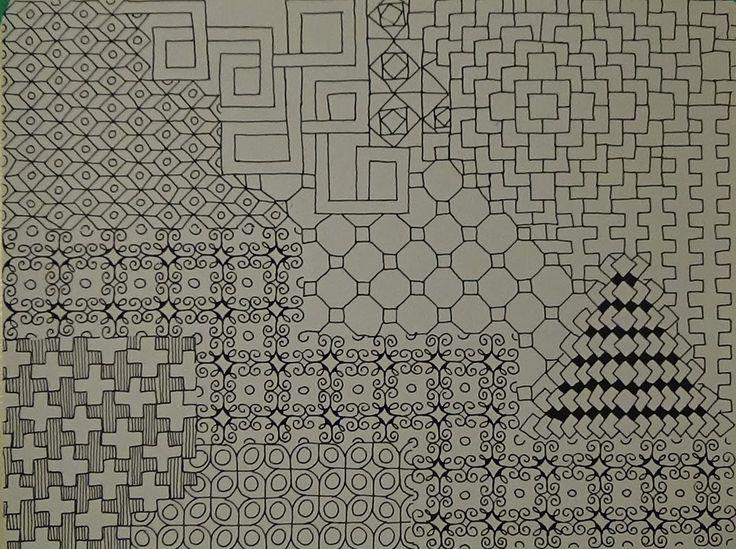 38 best Zentangle patterns images on Pinterest Zentangle, Black - microsoft office graph paper