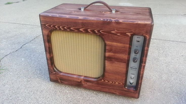 """For sale is my JP Guitarworks Retrogrouch: 100% hand-wired amp built from the ground up. This circuit uses very old-school design concepts of late 50's/early 60's Valco/Supro amps. The 1x10 cab is a custom, one of a kind beauty made with finger-joint construction, wheat grill cloth, select pine and birch wood baffle, 10"""" Weber Ceramic speaker and finished with red/brown tint and lacquer. 