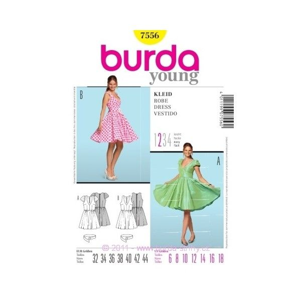 Střih Burda číslo 7556