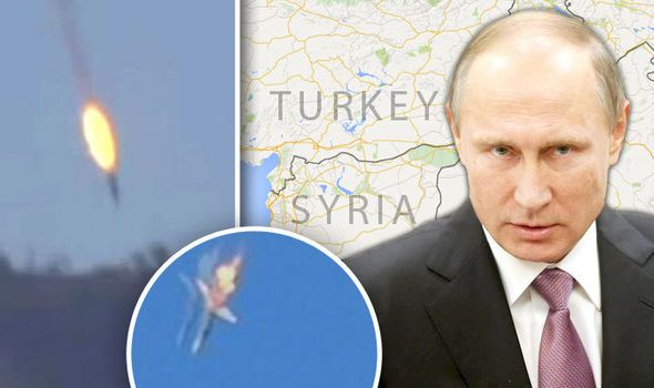 Brink of war: Russian jet WAS shot down in Syrian airspace as Putin sends warship to Med