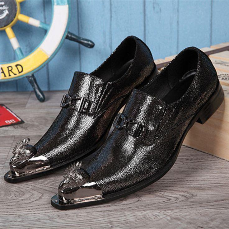 Christia Bella Fashion Italian Men Shoes Designer Pointed Toe Men Dress Shoes Genuine Leather Business Formal Men Shoes Flats