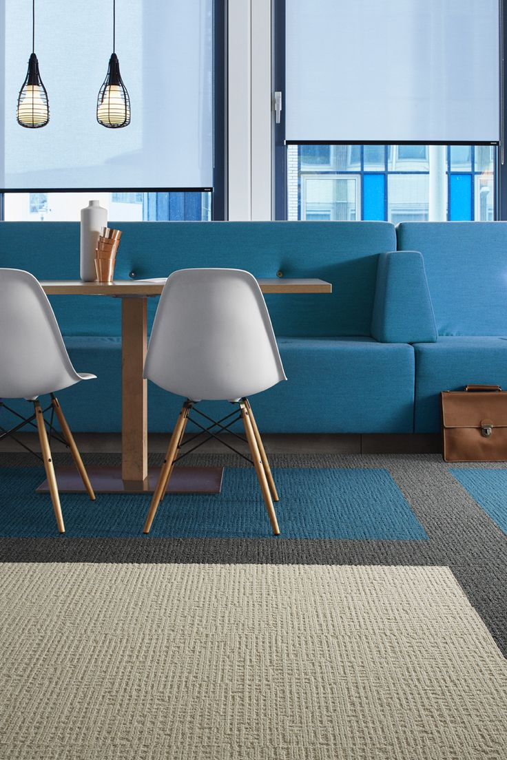 Monochrome, a solid flooring for colour blocking. Interface Modular Flooring