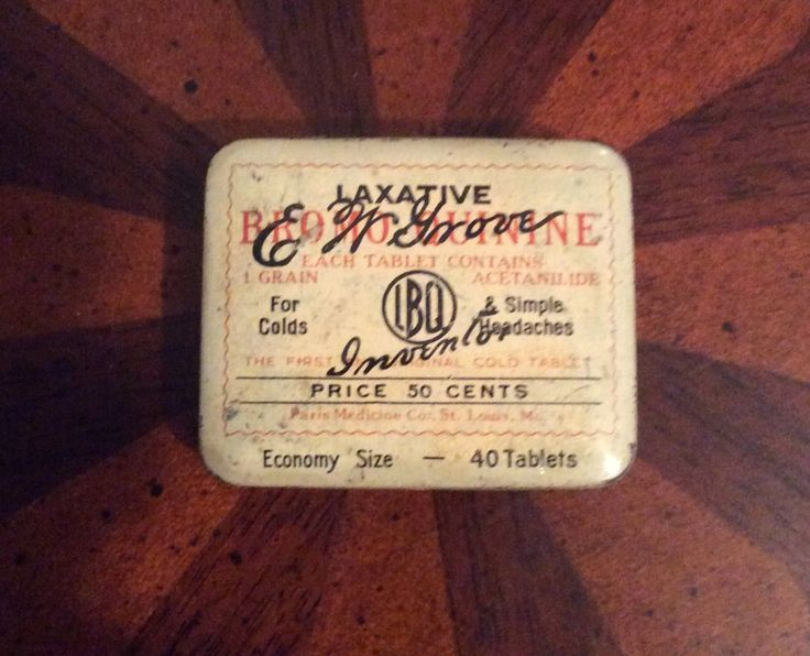 Vintage E. W. Grove Laxative Advertising Tin, Farmhouse Medicine Cabinet Find by MargiesCoolStuff on Etsy
