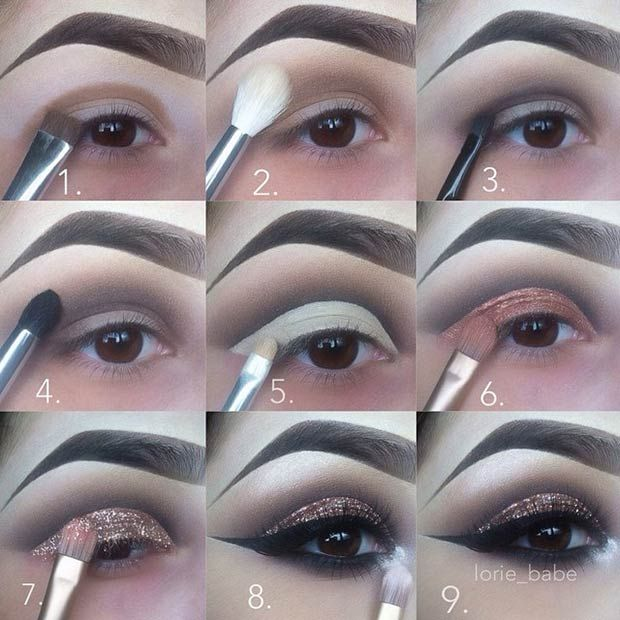 Use glitter glue to put loose glitter on your eyelids