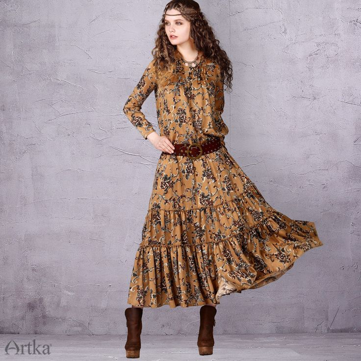 Free dress in a rustic style with a ruffle trim, 536724789541 buy for 7380 rubles. delivery to Russia, Ukraine, Belarus and the world | Coming Soon | Artka: online store for shoes and clothing Artka