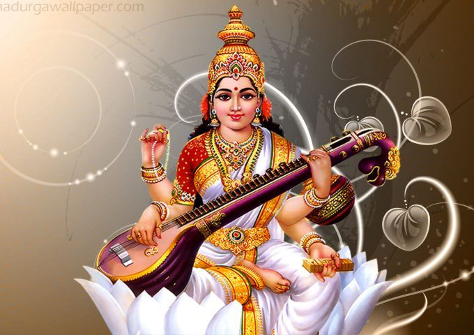 4k Image Saraswati Mata Saraswati Mata Navratri Puja Saraswati Goddess