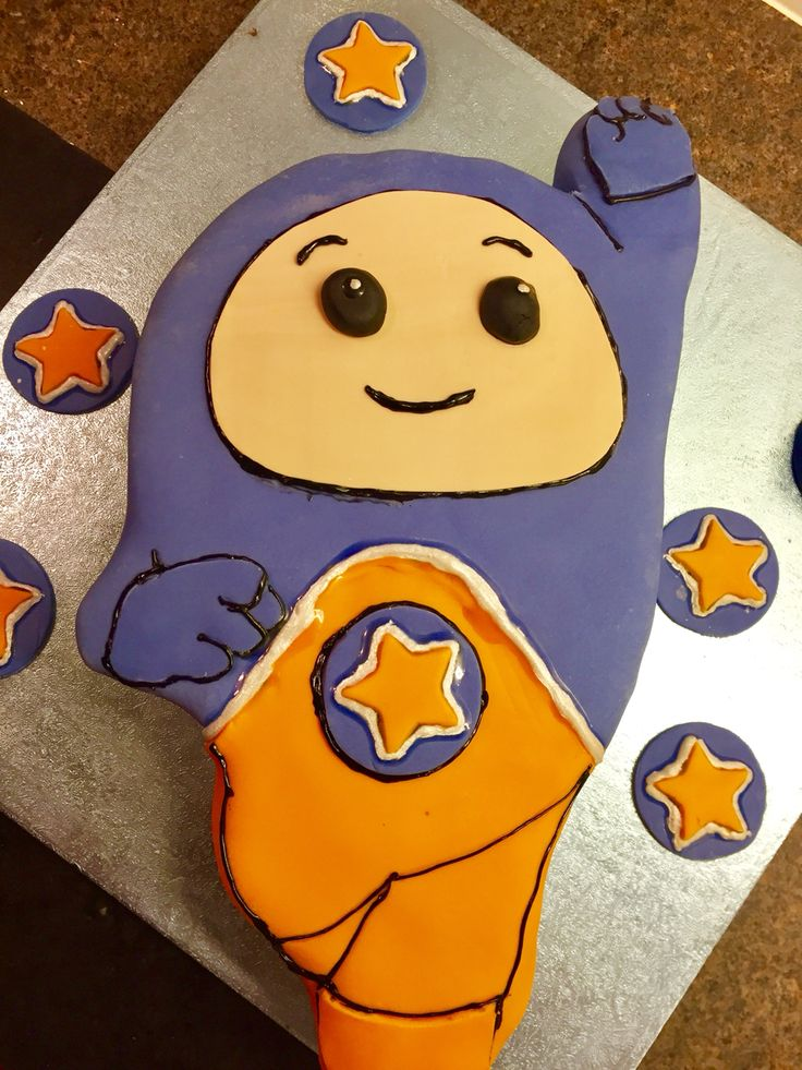 Go Jetter cake - Kyan, of course, because he's the best! (& Ubercorn just looked too tricky!) #GoJetters #GoJetterCake