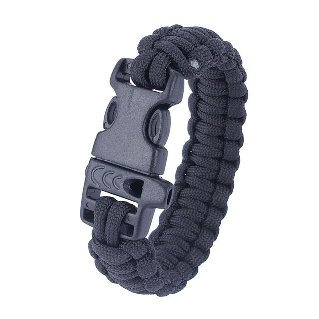 Outdoor Paracord Bracelet Hunting Camping Hiking Bracelet Whistle