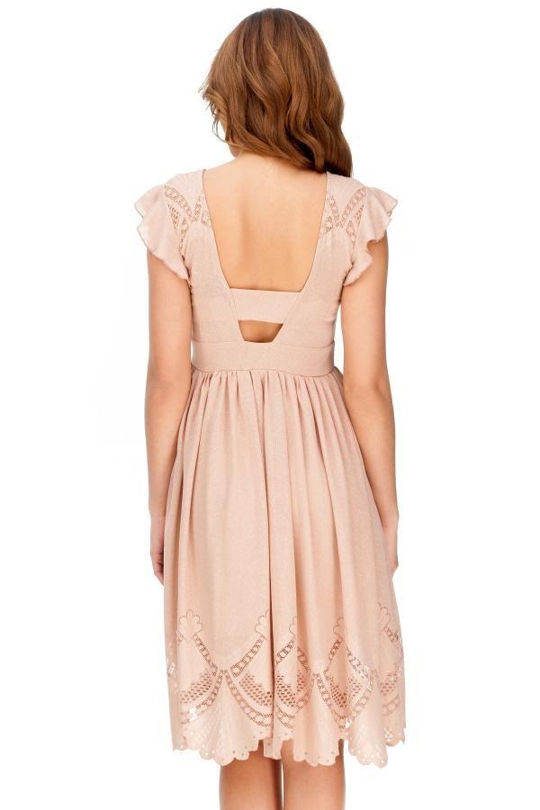 Φόρεμα μίντι με δαντέλα 2