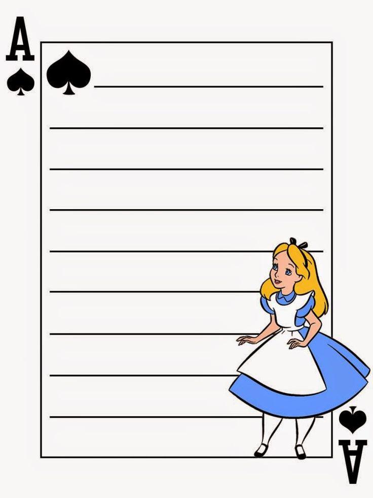 Cuaderno de Alicia en el País de las Maravillas para Imprimir Gratis.