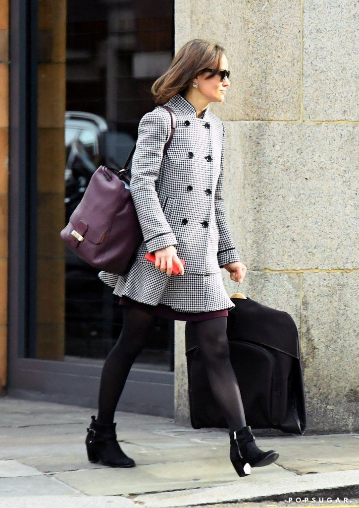 Pippa Middleton's Coat Might Strike You, but Her Earrings Will Downright Impress You