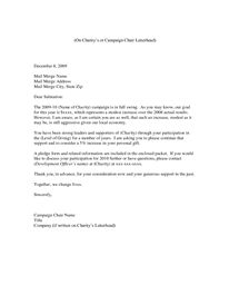 sample donation letter for non profit