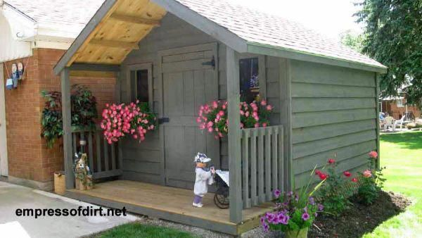50 Creative Garden Shed Ideas Empress Of Dirt Shed With Porch Garden Storage Shed Cottage Garden Sheds