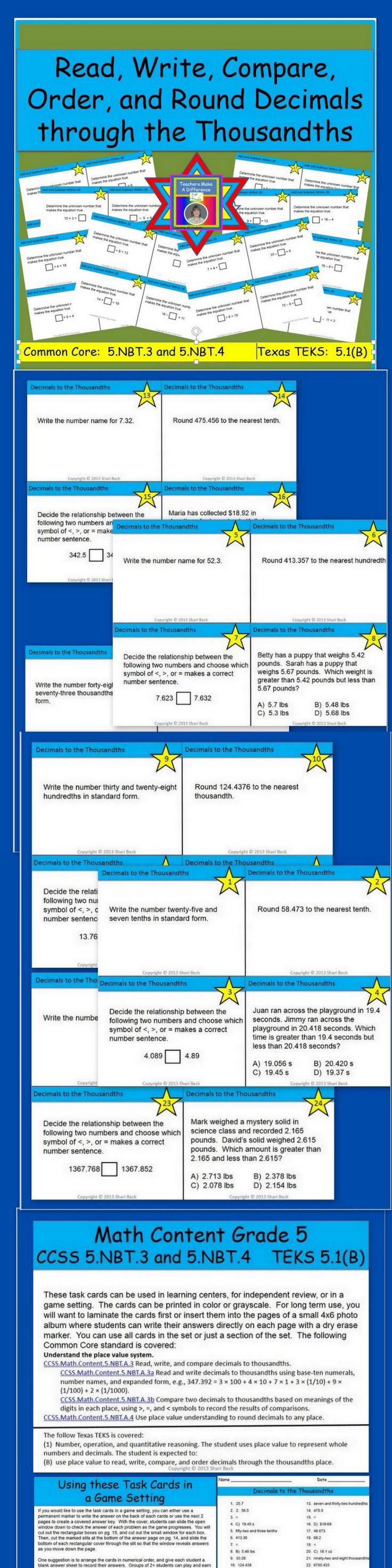 46 best Math ~ Decimals images on Pinterest | Teaching math, Math ...