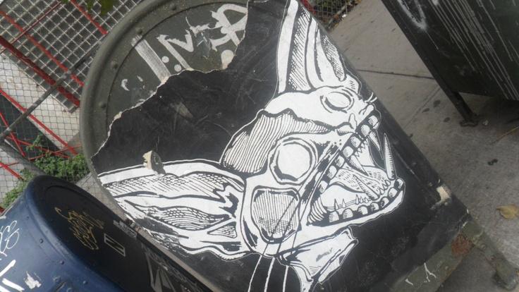 Graffiti en NY. Buzón de correos.