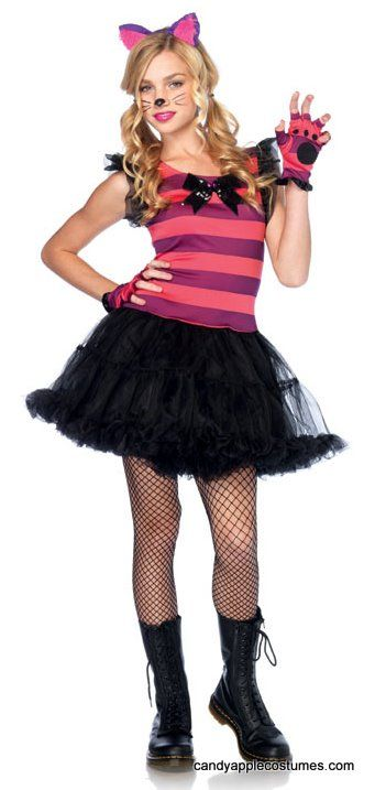 Tween Leg Avenue Cheshire Cat Costume - Candy Apple Costumes - Kids' Deluxe Costumes