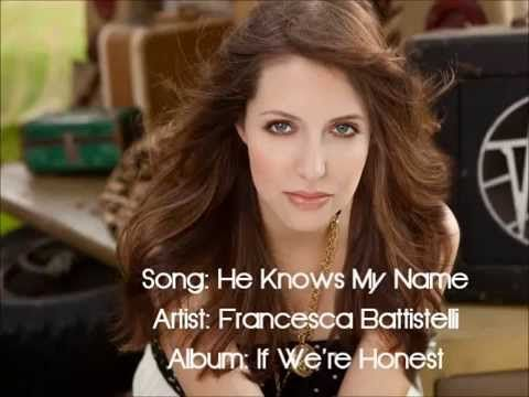 "He Knows My Name - Francesca Battistelli ""I don't need my name in lights, I'm famous in my father's eyes"" I need to hear this from time to time. In the fitness industry it's hard not to want to do what everyone else is doing. This song humbles me to know I'm already famous in God's eyes and I don't need to be famous here on earth ;)"
