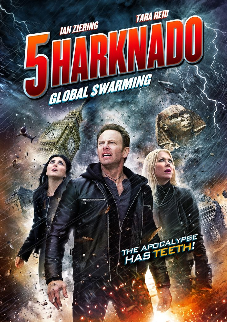 Sharknado 5 - new poster -https://teaser-trailer.com/movie/sharknado-5/  #Sharknado5 #Sharknado5Movie #MoviePoster