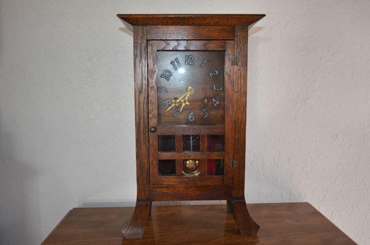 Arts And Crafts Clock Mantel Ebay