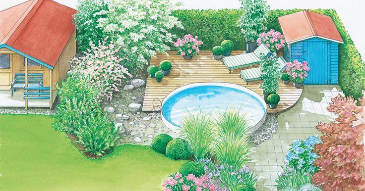 Ein Swimmingpool ist ein toller Ort zum Entspannen. Besonders gut gelingt das, wenn die Umgebung  ansprechend gestaltet ist. Mit unseren beiden Gestaltungsideen verwandeln  Sie Ihren Garten im Nu in eine blühende Oase. Die Pflanzpläne für beide Gestaltungsvorschläge können Sie als PDF-Dokument kostenlos herunterladen und ausdrucken.