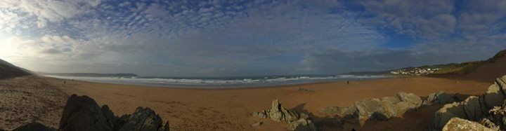 Mike Halladay - Woolacombe Beach on a magical November Sunday morning - taken today while staying Woolacombe Bay Hotel for our anniversary.