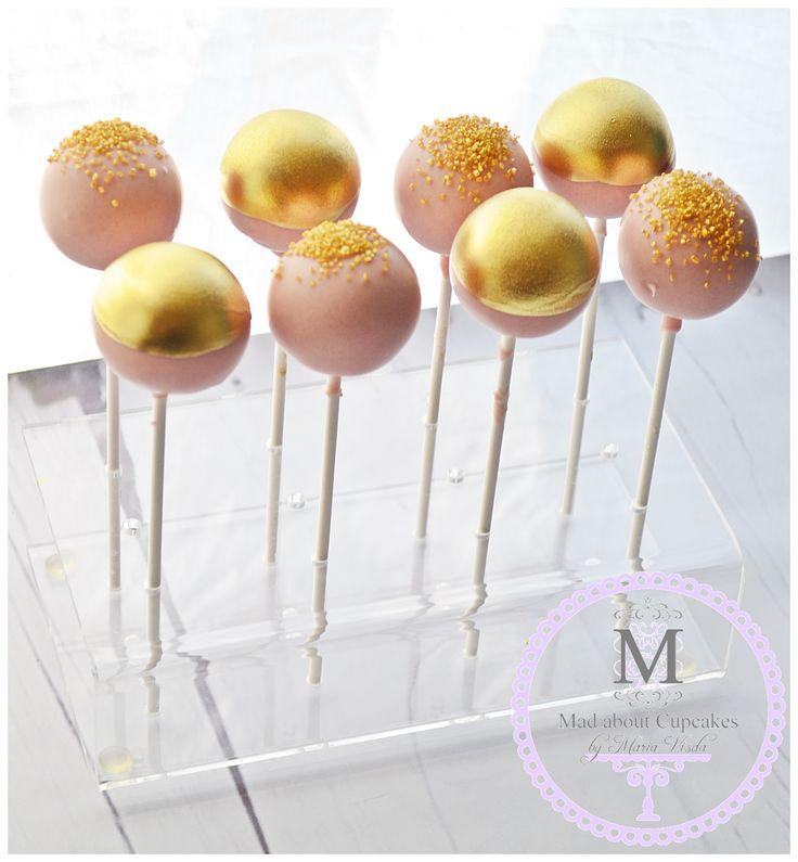 Pink & Gold Cake pops