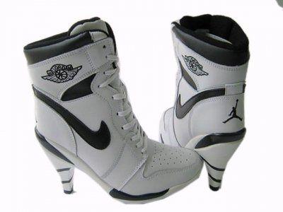 black and white jordan heels.