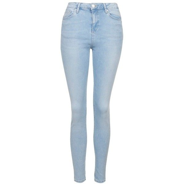 Topshop Moto 'Jamie' Bleached Skinny Jeans found on Polyvore