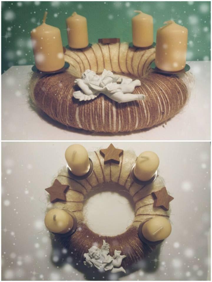 """Adventní věnec """"Anděl"""" (Advent wreath """"Angel"""")"""