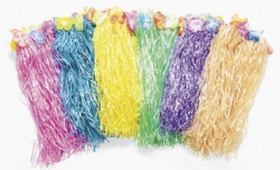 LUAU - 12 DELUXE kids FLOWERED color HULA skirts for only $36.99 You save: $13.00 (26%) + Free Shipping
