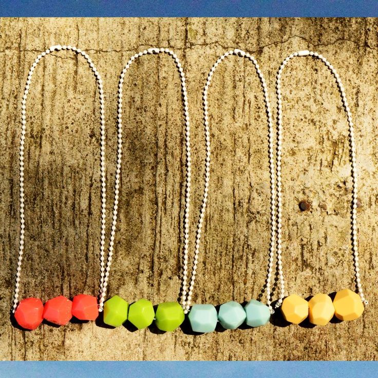 (ORANGE, LIME, MINT, BABY YELLOW) FUDGE NECKLACE -- 60K