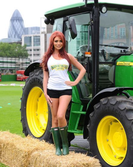Sexy girl on john deere tractor you