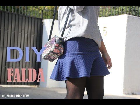 DIY Costura: Cómo hacer falda con volante (patrón gratis) - YouTube