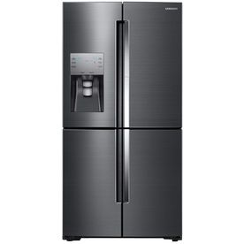 Samsung 4-Door Flex With Food Showcase 22.1-Cu Ft 4-Door Counter-Depth French Door Refrigerator With Ice Maker And Door